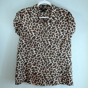 Style and co leopard print button down blouse 16